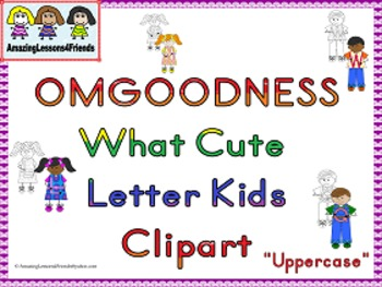 OMGOODNESS What Cute Letter Kids Uppercase