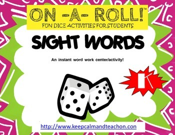 ON-A-ROLL! Sight / Dolch Words (kindergarten word work)