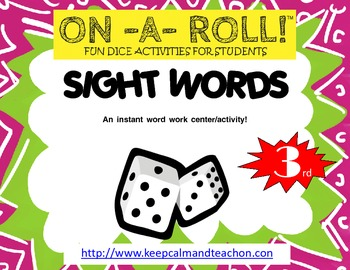 ON-A-ROLL! Sight Words (3rd grade)