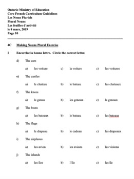 ON GOOGLE DRIVE - GR. 4 CORE FRENCH STUDENT WORKBOOK, ANSWER GUIDE, STUDY GUIDE