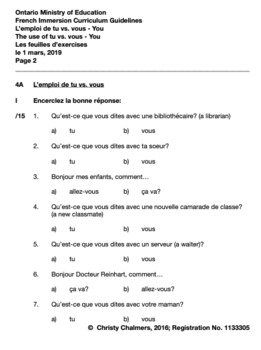 ON GOOGLE DRIVE - GR. 4 F.I. STUDENT WORKBOOK, ANSWER GUIDE, STUDY GUIDE