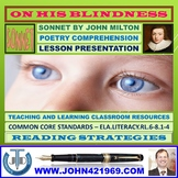 ON HIS BLINDNESS - ANALYZING MILTONIC SONNET - LESSON PRESENTATION