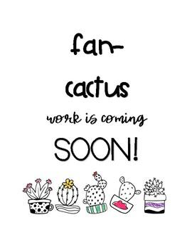 ON POINT! Cactus work display