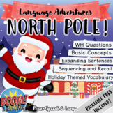 NORTH POLE, Boom Cards Speech Therapy, Christmas Activities, Holidays, Homework