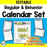 Calendar Set and Behavior Calendars - EDITABLE
