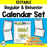 Calendar Set and Behavior Calendars EDITABLE