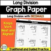 Dividing Decimals - Long Division On Graph Paper