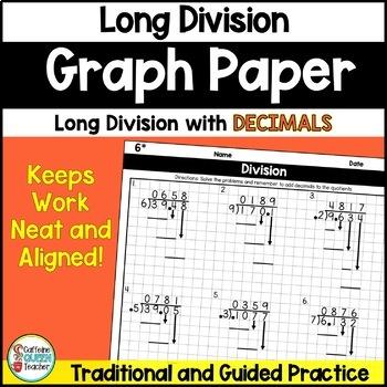 Dividing Decimals Long Division On Graph Paper