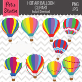 Hot Air Balloons Clipart // Travel Clipart - Objects103