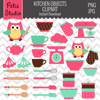 ON SALE Kitchen Clipart // Cooking Clipart // Chef Clipart- Objects112