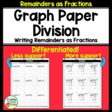 Long Division on Graph Paper - Changing Remainders to Fractions