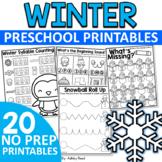 No Prep Winter Printables for Preschool or Pre-K