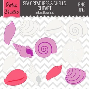 ON SALE Sea Clipart // Ocean Clipart // Nautical and Fish Clipart - Animals 109