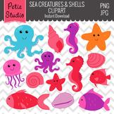 Sea Shells Clipart // Ocean Clipart // Nautical and Fish Clipart - Animals109