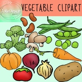 Vegetable Clip Art - Color and Line Art 22 pc set