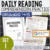Daily Reading Morning Work: Grades 4-5 Set 1