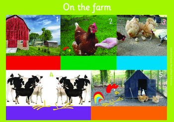 ON THE FARM: A3 Phonics Poster and  Matching Board. End of Phase 3  Sentences.
