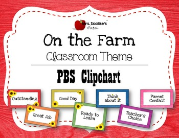 ON THE FARM Classroom Theme PBS PRINTABLE CLIP CHART