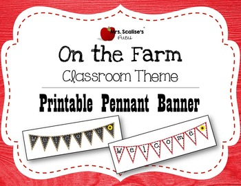 ON THE FARM Classroom Theme Printable Pennant Banner