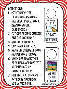 ON-THE-GO Classroom Door Hangers 28 included