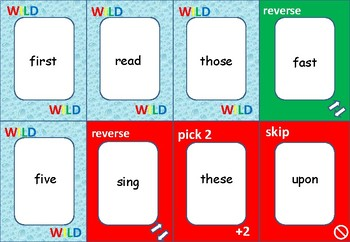 ONE!    2nd Grade Dolch Words   GAME