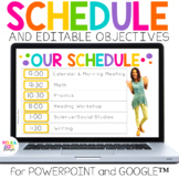 Digital Schedule & Objectives for Google (TM) and PowerPoint