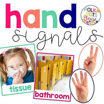 Hand Signals Posters with Photographs
