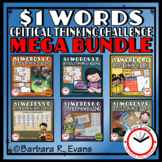 ONE DOLLAR WORDS MEGA BUNDLE Critical Thinking Challenge Math ELA Research GATE