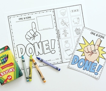 ONE & DONE SPEECH THERAPY ARTICULATION NO PREP worksheets
