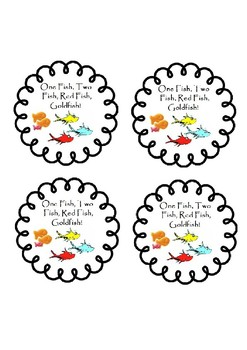 image about One Fish Two Fish Printable named One particular FISH, 2 FISH, Crimson FISH, GOLDFISH, Dr. Seuss themed address labels