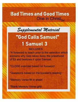 ONE IN CHRIST aligned God Calls Samuel Supplemental Worksheets