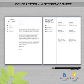 One Page Resume Template Google Docs And Google Slides