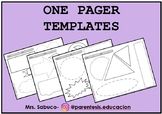 ONE PAGER - Templates