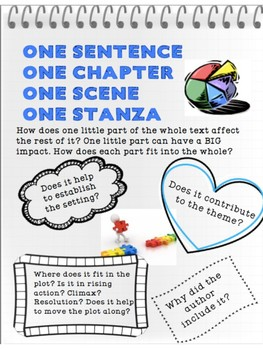 ONE SENTENCE, ONE PARAGRAPH - Reading Literature Toolkit - RL6.5