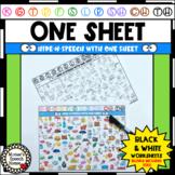 ONE SHEET HIDE-N-SPEECH ARTICULATION HOME PRACTICE