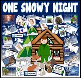 ONE SNOWY NIGHT STORY RESOURCES EYFS KS1 PERCY PARK KEEPER WINTER ANIMALS