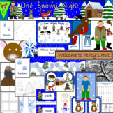 ONE SNOWY NIGHT book study- PERCY THE PARK KEEPER