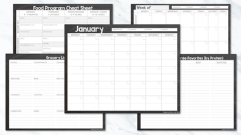 ONE-STOP Daycare Meal Planner - Chalkboard Style