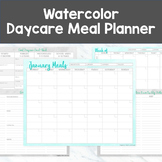 ONE-STOP Daycare Meal Planner - Watercolor Style