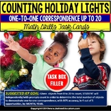 """ONE-TO-ONE CORRESPONDENCE Counting CHRISTMAS Task Cards """"Task Box Filler"""""""