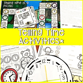 TELLING TIME WORKSHEETS, GAMES, LESSON PLANS, ACTIVITIES, CENTERS AND MORE