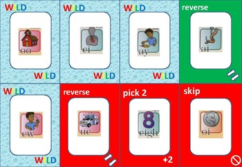 ONE ! Welded Sounds, Glued Sounds  and Vowel Teams  Card Game