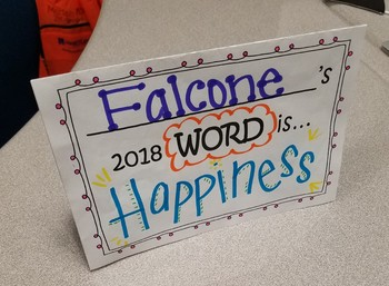 ONE Word for 2018 Activity