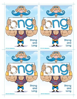ONG (Strong and Long) Word Buddy Card