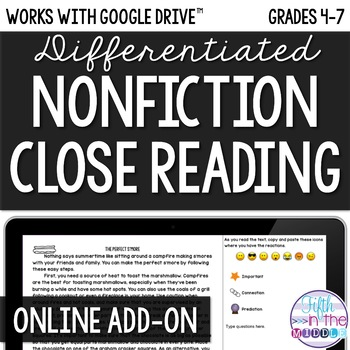 ONLINE Close Reading Add-On