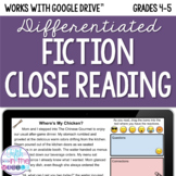 Fiction Close Reading Comprehension - Online/Distance Learning