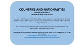 ONLINE TEACHING - FREE - Countries and Nationalities - PALFISH