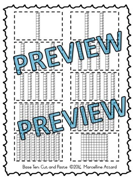 BASE TEN PRINTABLES (TENS AND ONES WORKSHEETS)