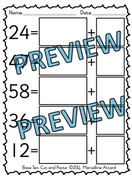 TENS AND ONES PLACE VALUE WORKSHEETS 1ST GRADE ACTIVITIES