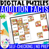 Addition Facts Digital Puzzles | Math Fact Practice | Dist